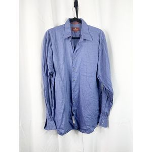 Nordstrom 16 37 blue relaxed classic button down